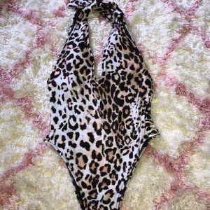 Women's Cheetah Halter One-piece | NWT, M size